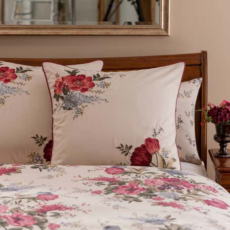 Dorma Lavinia Red Continental Pillowcase