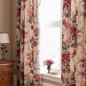 Dorma Lavinia Red Lined Pencil Pleat Curtains