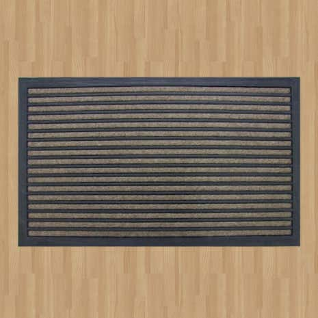 Grey Striped Doormat