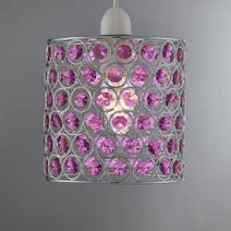 Lamp shades decorative light shades dunelm page 10 for Purple beaded lamp shade