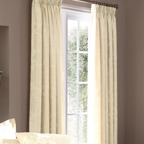 Dorma Isabelle Cream Lined Pencil Pleat Curtains