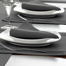Spectrum Black Pack of 4 Napkins