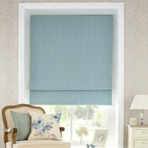 Duck Egg Vintage Spot Blackout Roman Blind