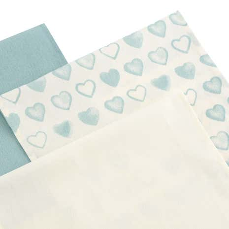 Country Duck-Egg Heart Tea Towels