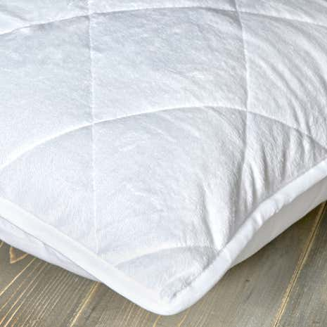 Plush Reversible Pillow Protector