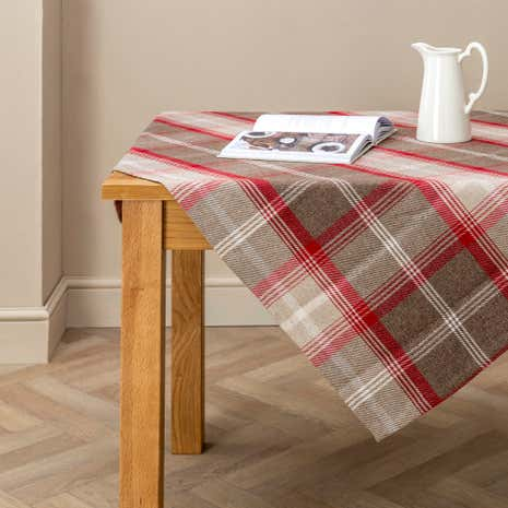 Highland Red Check Tablecloth