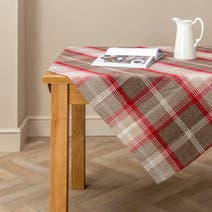 Red Highland Check Tablecloth
