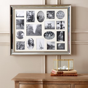 Dorma Champagne 17 Aperture Mirrored Photo Frame