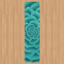 Utopia 3D Teal Wool Runner