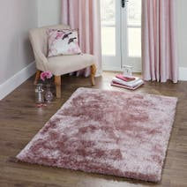 Blush Indulgence Shaggy Rug