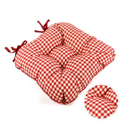 red gingham check seat pad dunelm. Black Bedroom Furniture Sets. Home Design Ideas