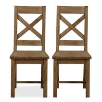 Cole Pine Pair of Dining Chairs