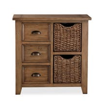 Cole Pine Mini Sideboard With Baskets