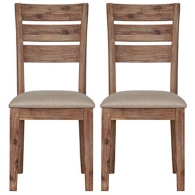 Harvey Acacia Pair of Dining Chairs