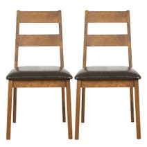 Carson Walnut Pair of Dining Chairs