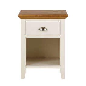 Eaton Cream 1 Drawer Bedside Table