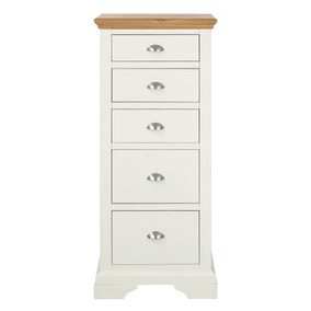 Eaton Cream 5 Drawer Tallboy