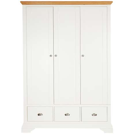 Eaton Cream Triple Wardrobe