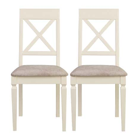 Madeline Cream Pair of Dining Chairs