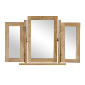 Oakley Oak Triple Vanity Mirror