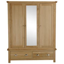 Oakley Oak Triple Wardrobe