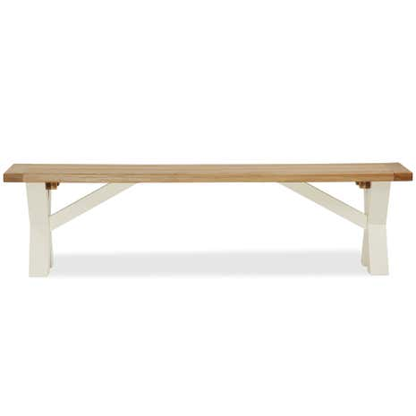 Wilby Cream Cross Bench