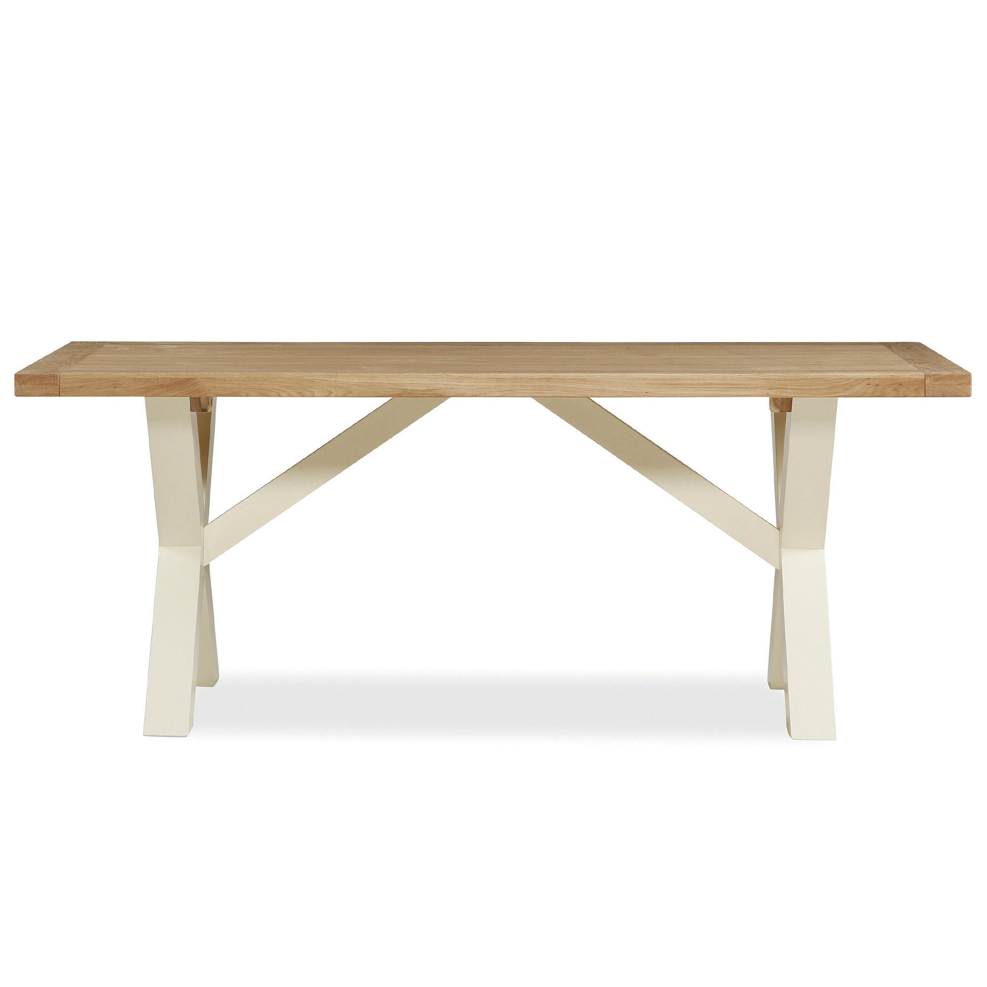 Wilby Cream Cross Dining Table