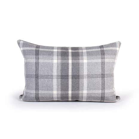 Balmoral Grey Check Cushion