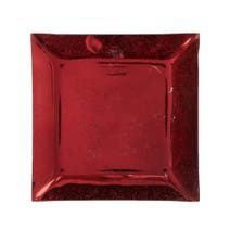 Red Square Candle Plate