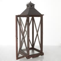 Dark Oak Wood Effect Lantern