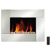 Mirrored Wall Mounted Fire 1800W