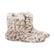 Leopard Print Boot Slippers