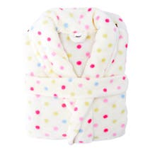 Ladies Polka Dot Dressing Gown
