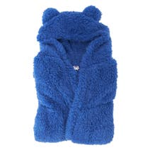 Kids Navy Teddy Bear Bathrobe
