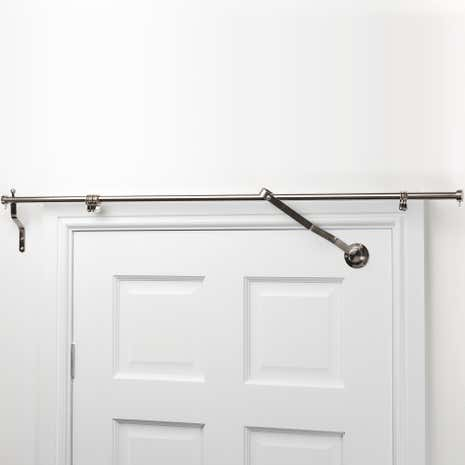 Satin Steel Door Curtain Pole