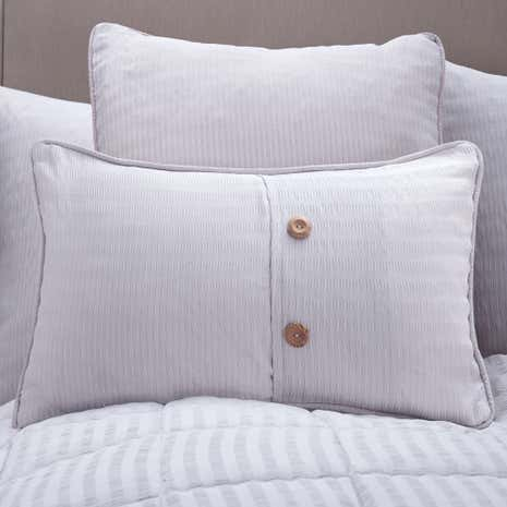 Logan Seersucker Grey Boudoir Cushion