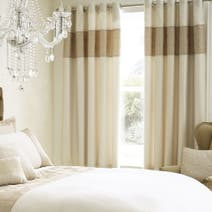 Natural Venetia Thermal Eyelet Curtains