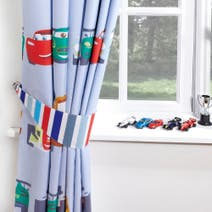 Disney Cars Blackout Pencil Pleat Curtains