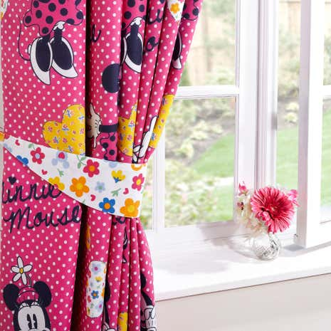 Disney Minnie Mouse Blackout Pencil Pleat Curtains