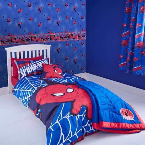 Marvel Spiderman Single Duvet Cover and Pillowcase Set