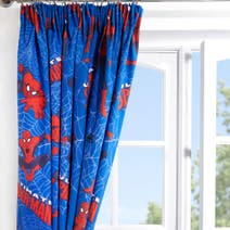 Marvel Spiderman Blackout Pencil Pleat Curtains