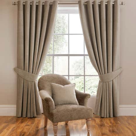Dorma Lymington Mink Lined Eyelet Curtains