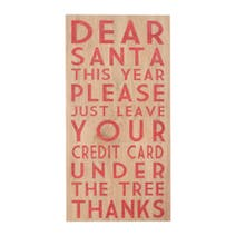 Dear Santa Christmas Canvas