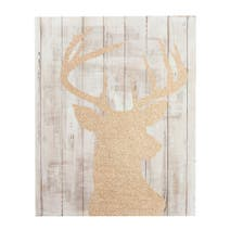 Indulgent Glitter Stag Canvas