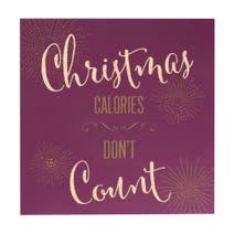 Purple Christmas Calories Canvas