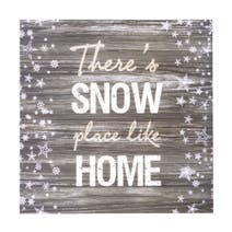 Snow Place Like Home LED Canvas