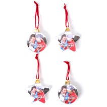 4 Pack Photo Baubles