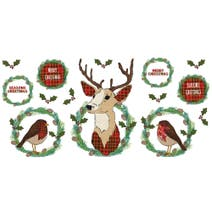 Stag and Robin Wall Sticker