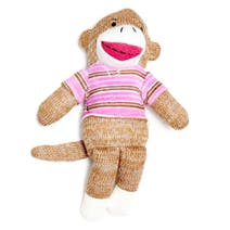 Brown Itsy Bitsy Sock Monkey