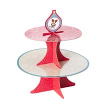 Christmas Party Animals Two Tier Cake Stand